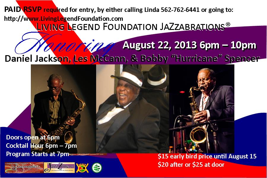 August JazZabration flyer
